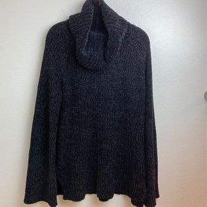 NWT Lucky Brand Black Chunky Cowl Neck Sweater. M